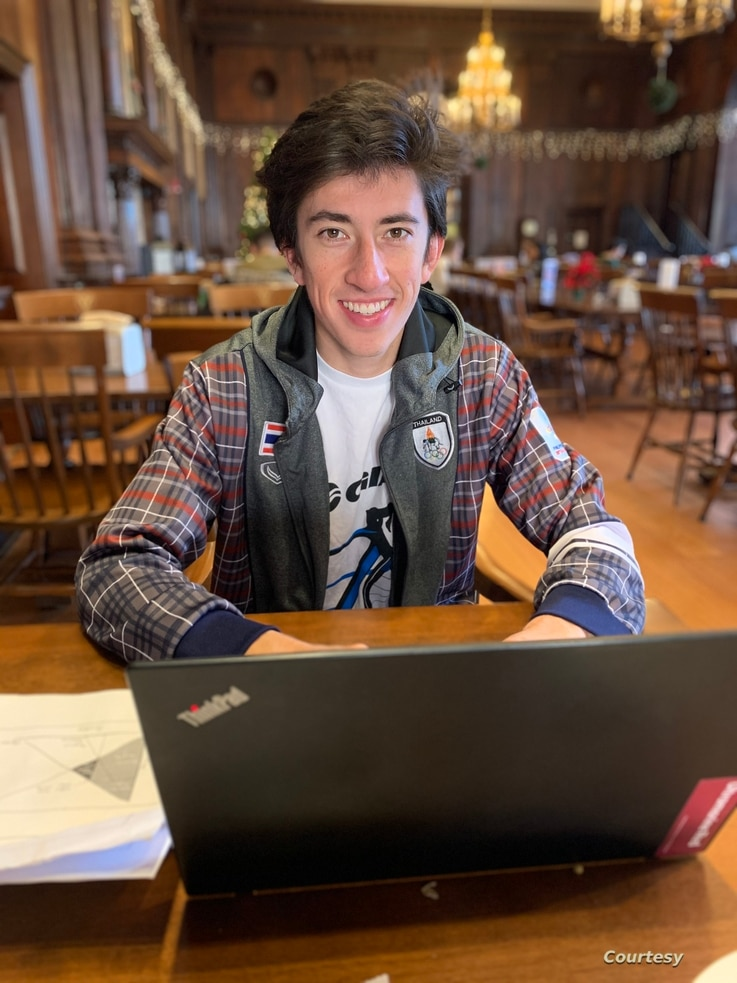 Kieran Tuntivate broke the 4-minute mile in February 2020, the first ever at Harvard University. (Photo: courtesy Kieran Tuntivate)