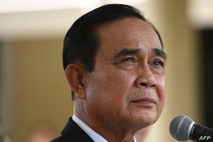 Thailand's Prime Minister Prayut Chan-O-Cha attends a signing ceremony for the agreement to purchase AstraZeneca's potential…
