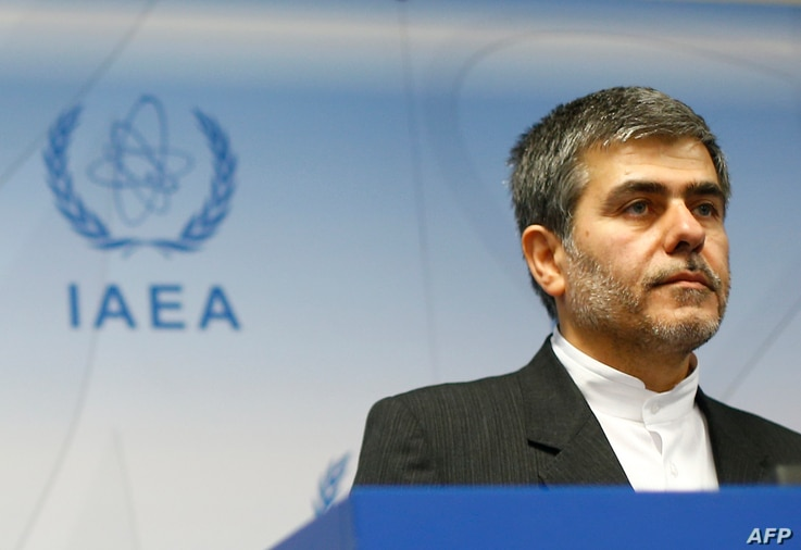 Iran's head of Atomic Energy Organisation Fereydoon Abbasi Davani answers questions during a press conference during the 56th…