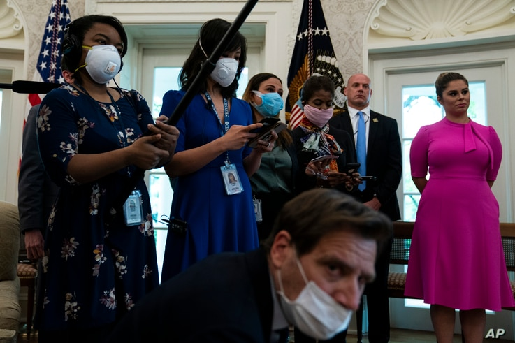 Journalists at White House