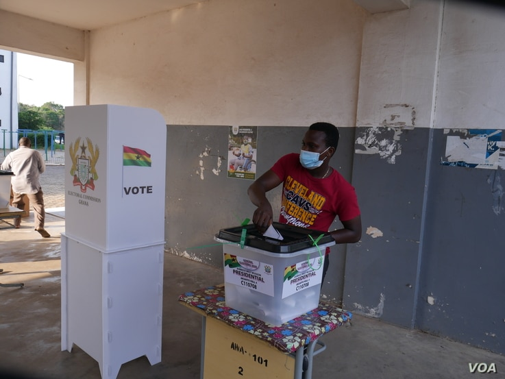 There are 17 million registered voters in Ghana this election. Dec 7, 2020 (Stacey Knott/VOA)