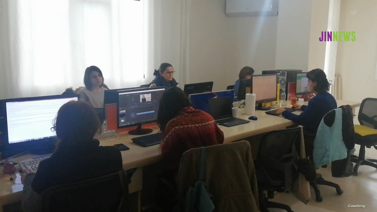 """JIN News is an all-women's news service founded in Turkey's predominately Kurdish region under the mantra """"On the path to truth, with a woman's pen."""" (Courtesy - JIN News)"""