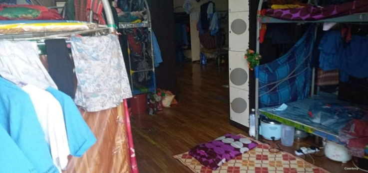 A photo supplied by labor rights advocate Andy Hall shows a migrant worker dorm room in Malaysia.