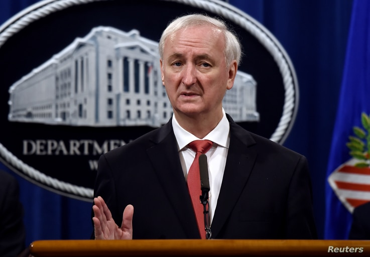 Deputy Attorney General Jeffrey A. Rosen announces significant law enforcement actions related to the illegal sale of drugs and...