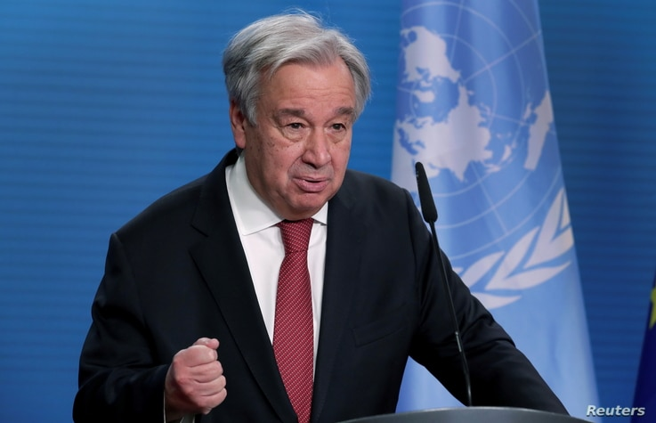 FILE - U.N. Secretary-General Antonio Guterres.