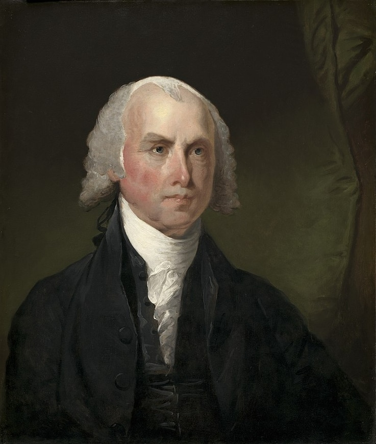 "James Madison, called the ""Father of the Constitution"" by his contemporaries, was born into wealth and went on to become the fourth U.S. president. (Public Domain)"
