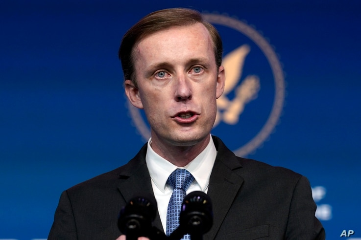 National Security Adviser Jake Sullivan speaks at The Queen theater on Nov. 24, 2020...