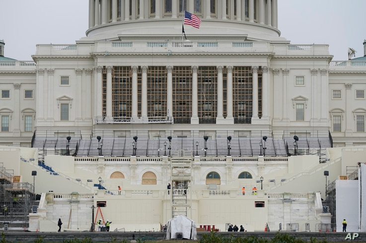 Preparations take place for President-elect Joe Biden's inauguration on the West Front of the U.S. Capitol in Washington,…