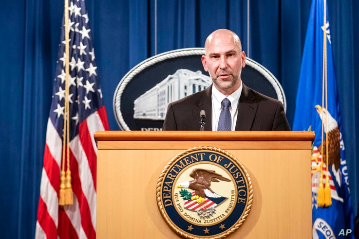 Steven D'Antuono, head of the Federal Bureau of Investigation (FBI) Washington field office, speaks during a news conference...