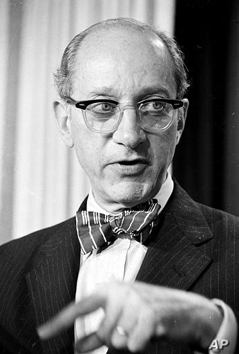 U.S. Attorney General Edward Levi briefs newsmen at the White House on President Gerald Ford's crime message June 19, 1975.