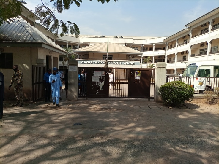 Magistrate Court Wuse Abuja where the case against activist and former presidential aspirant Omoyele Sowore is being heard. Friday, January 08, 2021.