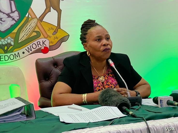 Monica Mutsvangwa, Zimbabwe's information minister, says she would only comment on the matter after the courts have disposed of the case. (Photo: Columbus Mavhunga / VOA)