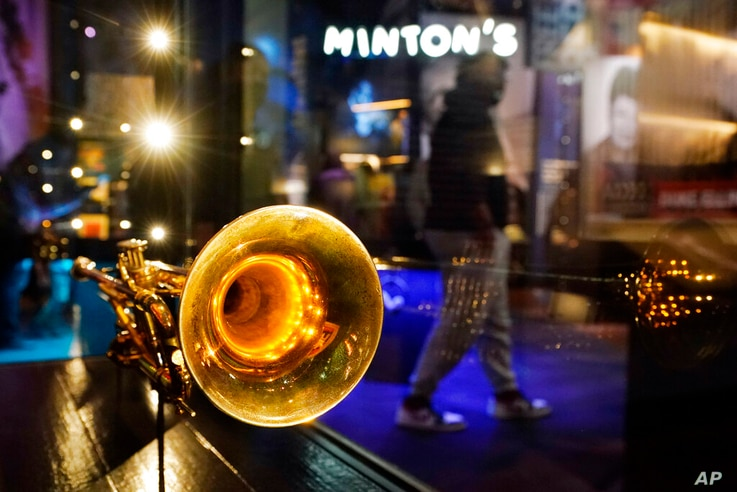 A trumpet belonging to Louis Armstrong is displayed at the National Museum of African American Music, Saturday, Jan. 30, 2021,…