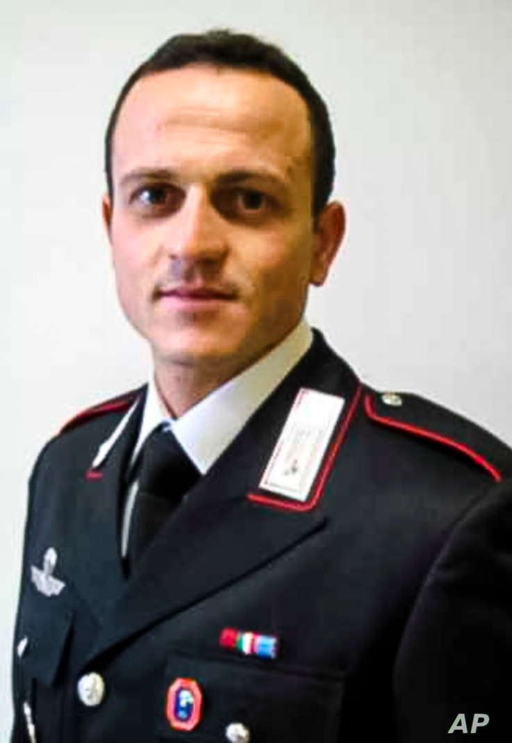 Late Carabinieri officer Vittorio Iacovacci who was killed in an ambush on Monday, together with the Italian Ambassador to Congo Luca Attanasio