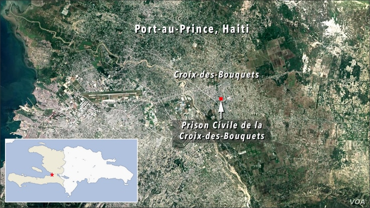 Map of Prison Civile de la Croix-des-Bouquets, Port-au-Prince, Haiti