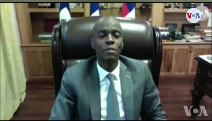 Haitian Président Jovenel Moïse speaks to VOA Creole about his decision to retire three Supreme Court Justices, Feb. 9, 2021.