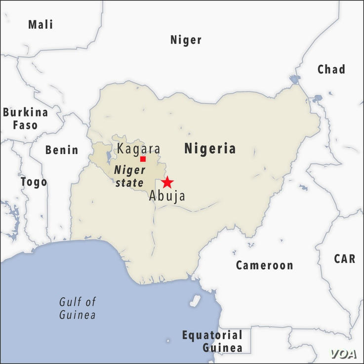 Map of Kagara, Niger state, Nigeria