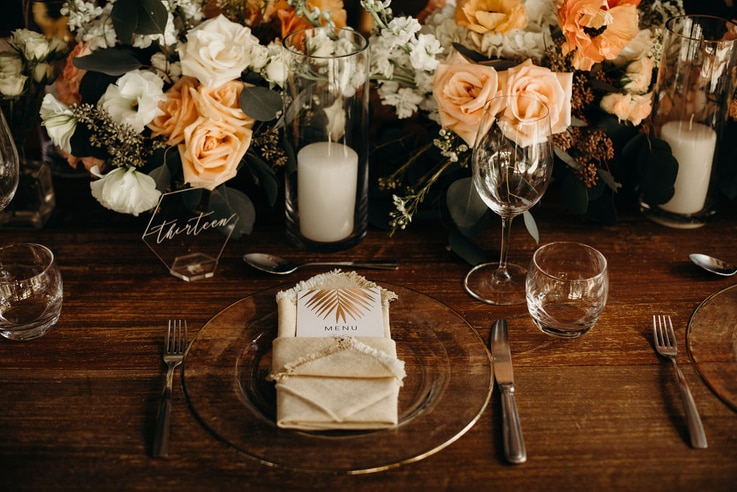 For those who can afford it, wedding expenses can often include flowers, specially printed menus and table cards, and other table decor.