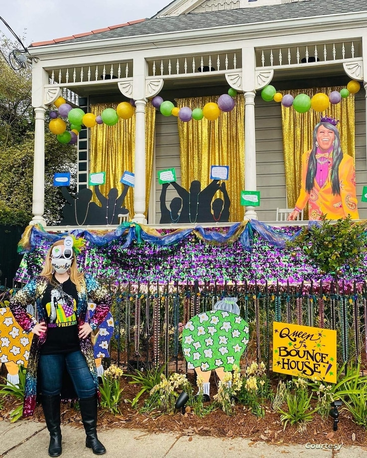 Laura Renae Steeg visits a New Orleans home decorated to honor local legend Big Freedia. (Photo courtesy of Laura Renae Steeg)