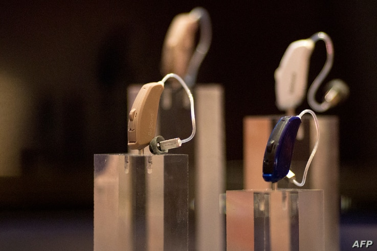 Resound LiNX2 connected smart hearing aids are shown at ShowStoppers during the 2017 Consumer Electronic Show (CES) in Las…