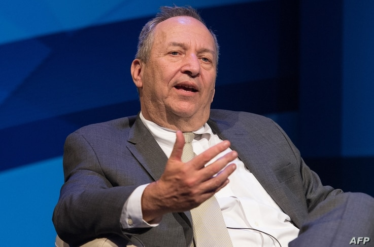 """Former US treasury secretary Larry Summers speaks during a discussion entitled """"The New Normal in Asia: Will Growth Inevitably…"""