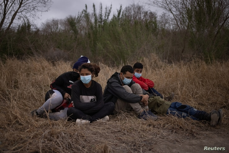 Asylum seeking unaccompanied minors from Central America are separated from other migrants by U.S. Border Patrol agents after…