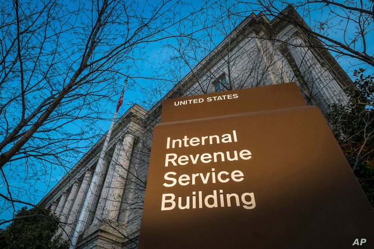 FILE- This photo dated April 13, 2014 shows the headquarters of the Internal Revenue Service (IRS) in Washington. Agency...
