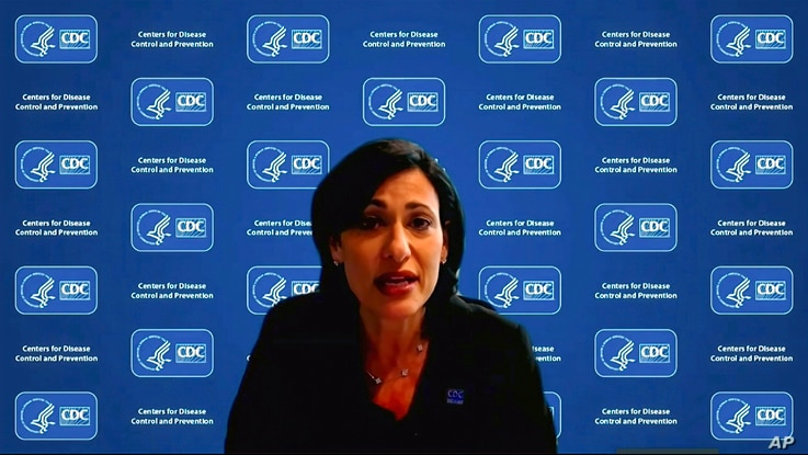 In this Jan. 27, 2021, image from video, Dr. Rochelle Walensky, director of the Centers for Disease Control and Prevention,…