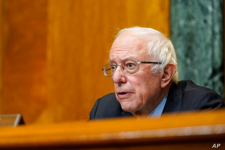 Senate Budget Committee Chairman Sen. Bernie Sanders, I-Vt., speaks during a hearing on Capitol Hill in Washington, Thursday,...