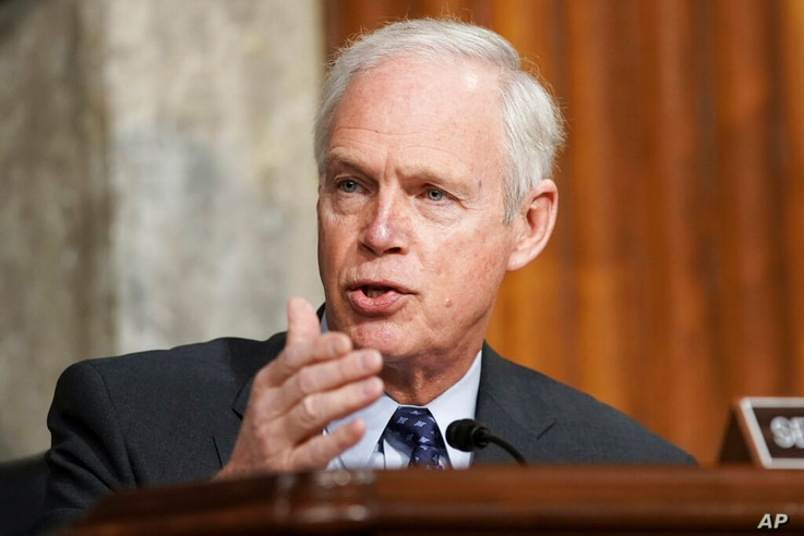 Sen. Ron Johnson, R-Wis., speaks during a Senate Committee on Homeland Security and Governmental Affairs and Senate Committee...