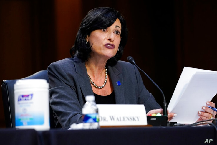 Dr. Rochelle Walensky, director of the Centers for Disease Control and Prevention testifies during a Senate Health, Education,…