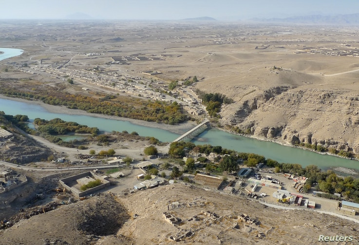 FILE - The Helmand River in Helmand province, south of Kabul, Afghanistan.