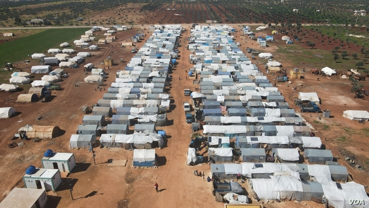 A million and a half people are displaced in Idlib, Syria part of the last region held by opposition forces after ten years of war on March 5, 2021 (VOA/Mohammad Daboul)