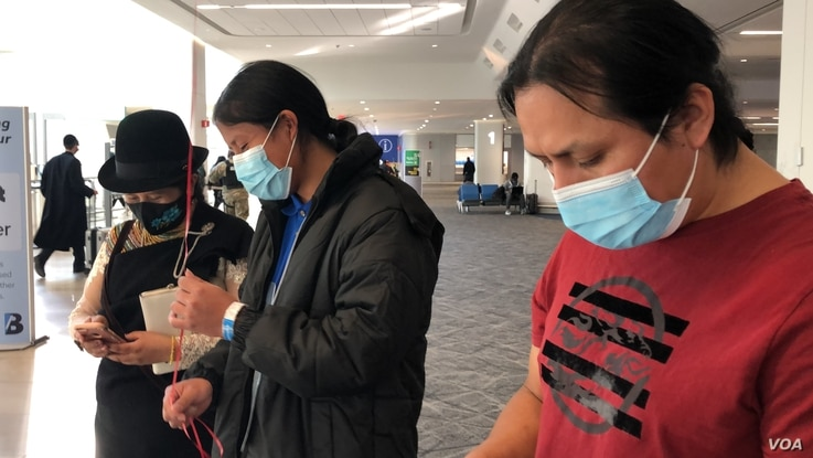 Jose Luis, 16, at the airport reunited with his parents. He crossed the Rio Grande Valley area in McAllen, Texas, as an unaccompanied minor after 13 years separated from his parents.