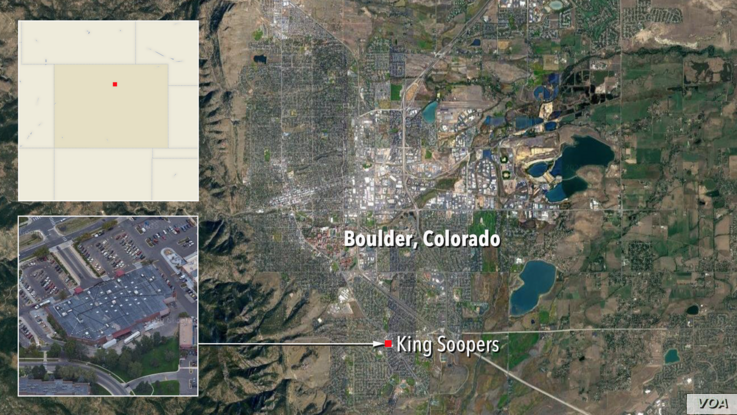 Map of King Soopers, Boulder, CO