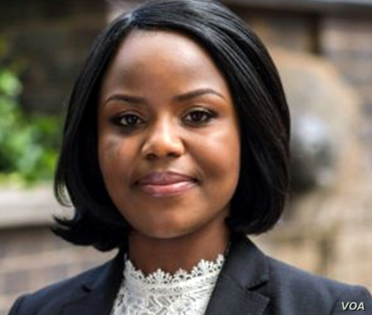 Fadzayi Mahere, spokeswoman for the country's main opposition party, the Movement for Democratic Change Alliance says, March 2, 2021, Zimbabwe needs a plan to bounce back from the coronavirus pandemic. (Columbus Mavhunga/VOA)