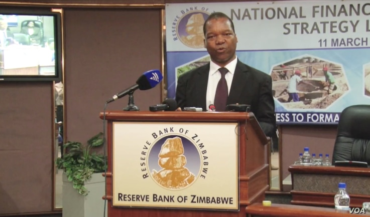 John Panonetsa Mangudya, governor of the Reserve Bank of Zimbabwe, (Harare, December 2020)