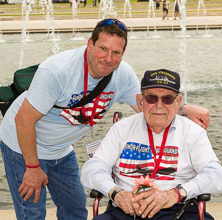Steven Richard, with his father Earl, who lost his battle against COVID-19 a few days after his son passed. (Photo courtesy of the Richard family)