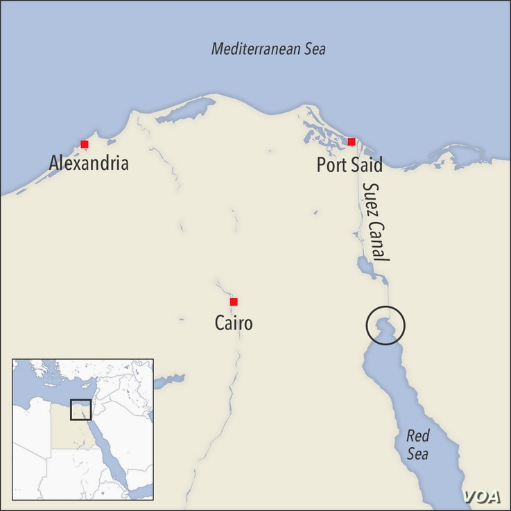 Map of Suez Canal