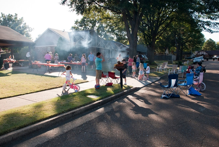 FILE -- A neighborhood block party in Memphis, Tennessee. (Photo courtesy of Flickr user dani0010 via Creative Commons license)