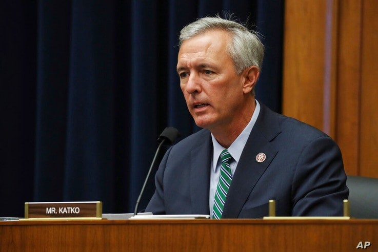 Rep. John Katko, R-N.Y., questions witnesses during a House Committee on Homeland Security hearing on 'worldwide threats to the…