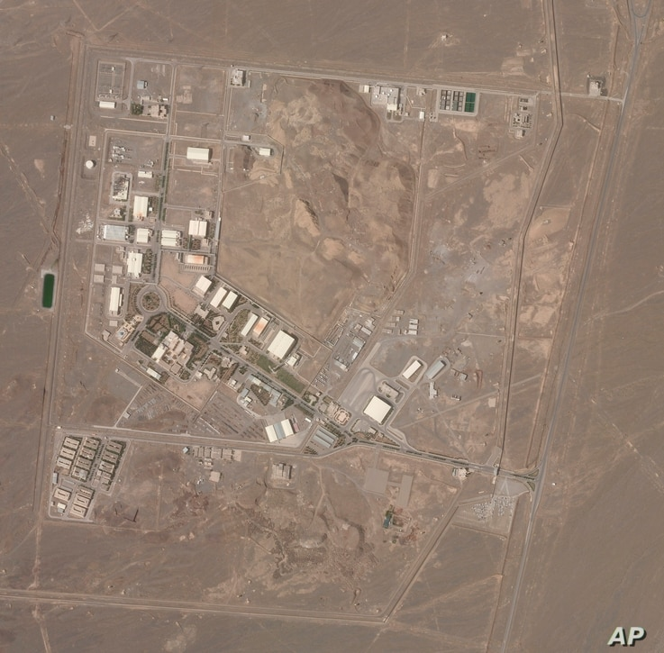 This satellite photo from Planet Labs Inc. shows Iran's Natanz nuclear facility on Wednesday, April 7, 2021.