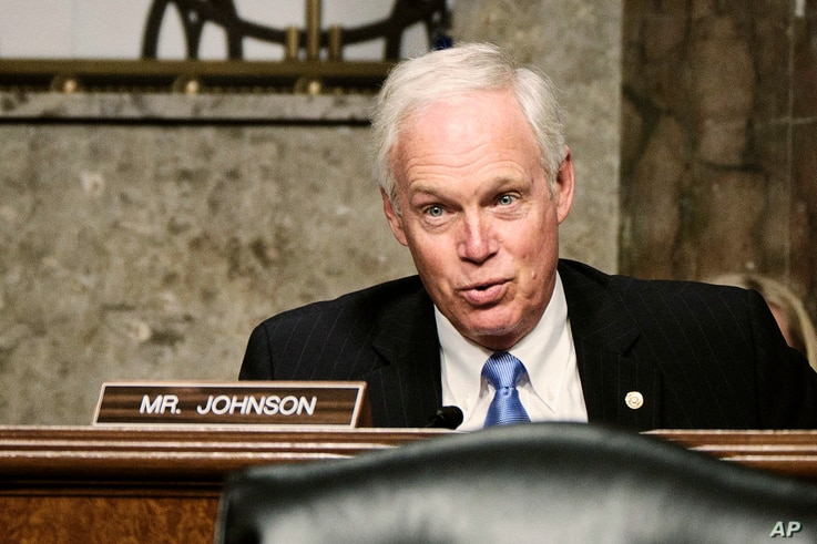 Sen. Ron Johnson, R-Wisc., questions Zalmay Khalilzad, special envoy for Afghanistan Reconciliation, before the Senate Foreign…
