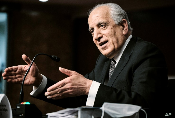 Zalmay Khalilzad, special envoy for Afghanistan Reconciliation, testifies before the Senate Foreign Relations Committee on...