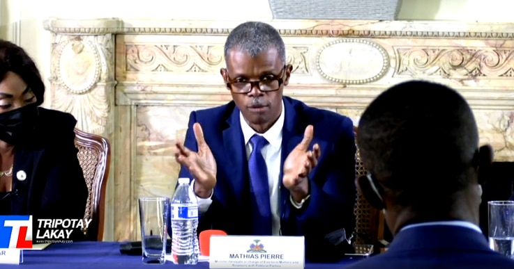 Minister-delegate in charge of Haitian Elections, Mathias Pierre briefs diaspora on the effort to replace the 1987 constitution