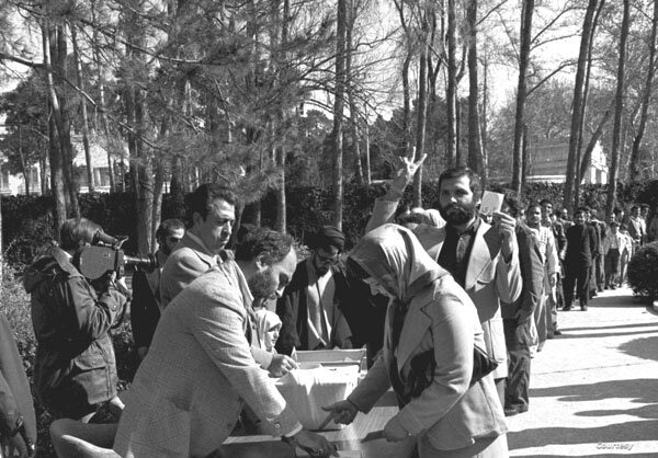 Iranians vote in a March 30-31, 1979, referendum