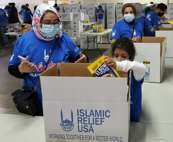 Food boxes for the needy