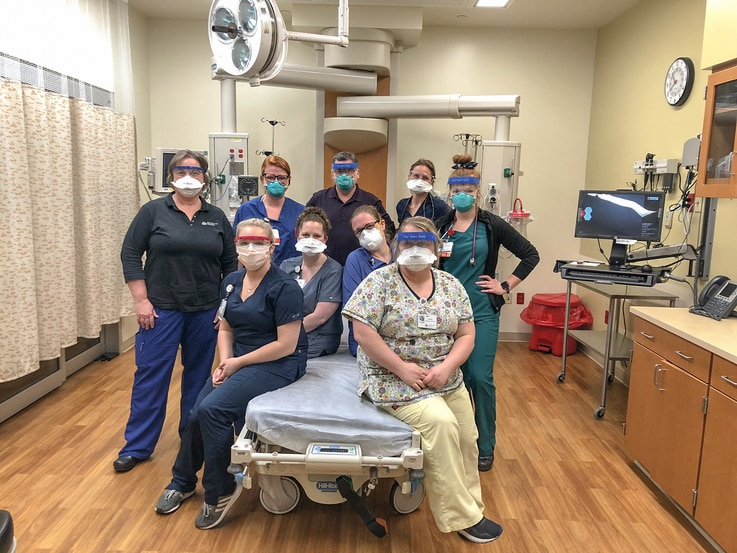 The staff at Margaret Mary Health in Batesville, Indiana. (Courtesy Margaret Mary Health)