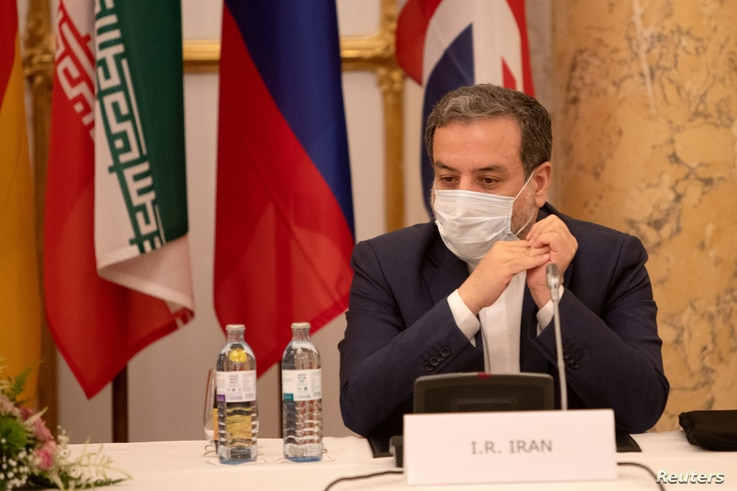 FILE - Iran's top nuclear negotiator, Abbas Araqchi, attends a meeting of the JCPOA Joint Commission in Vienna, Austria, Sept. 1, 2020.