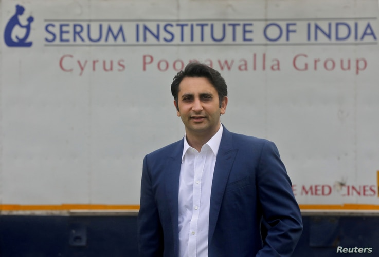 FILE PHOTO: Adar Poonawalla, Chief Executive Officer (CEO) of the Serum Institute of India poses for a picture at the Serum...